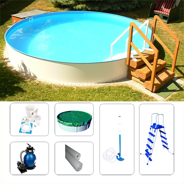 Rundpool-Set Swimmingpool Visionzon 3,00 x 1,20m inkl. Zubehör