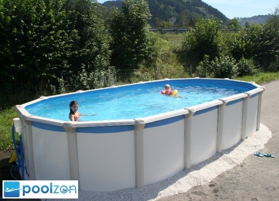 Pool Gigazon 7,20 x 3,60 x 1,32m mit edler 15cm breiten Handlauf