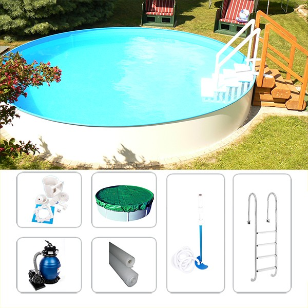 Gartenpool Rund-Set Fun-Zon 5,00 x 1,50m