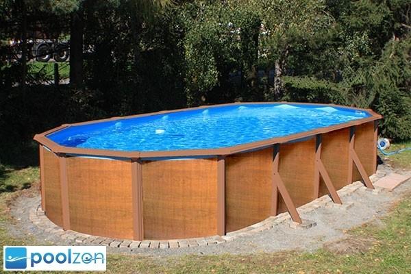 Ovalpool Starzon Woodstyle 7,20 x 3,60 x 1,20m