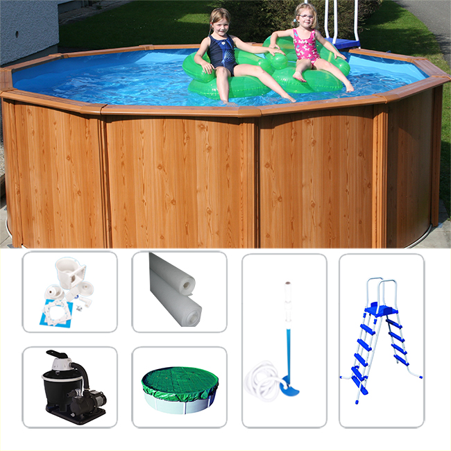 stahlwandbecken set gigazon woodstyle 4 50 x 1 32m mit. Black Bedroom Furniture Sets. Home Design Ideas