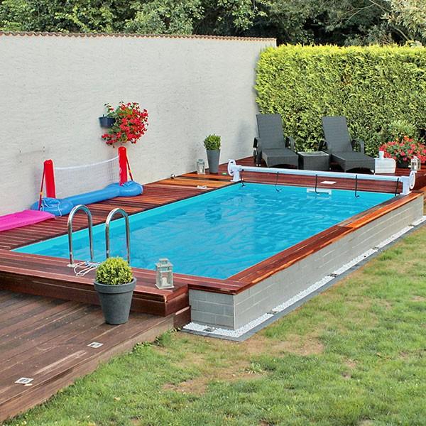 Thermopool Schwimmbecken 10,00 x 5,00 x 1,50m inkl. Bodenisolierung