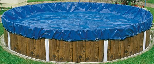 Schwimmbad Winterabdeckplane für Rechteckbecken 6,00 x 3,00m mit Übermaß