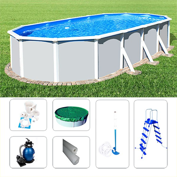 Schwimmbad Ovalpoolset Starzon 7,20 x 3,60 x 1,20m