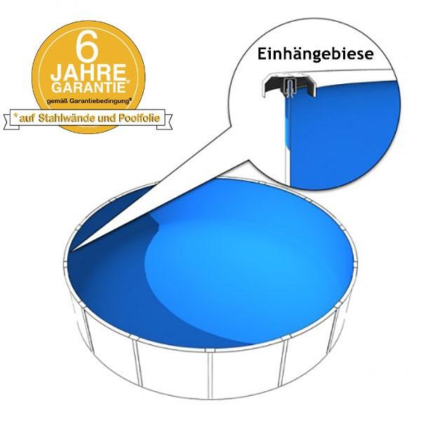 Schwimmbadfolie 3,20 x 1,50m in 0,8mm mit Biese