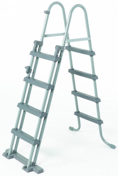 Stahlleiter Poolleiter für Becken bis 1,20 Höhe