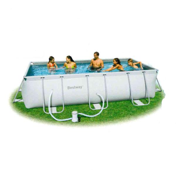 easy pool frame pool set rechteckpool 5 49 x 2 74 x 1 22m. Black Bedroom Furniture Sets. Home Design Ideas