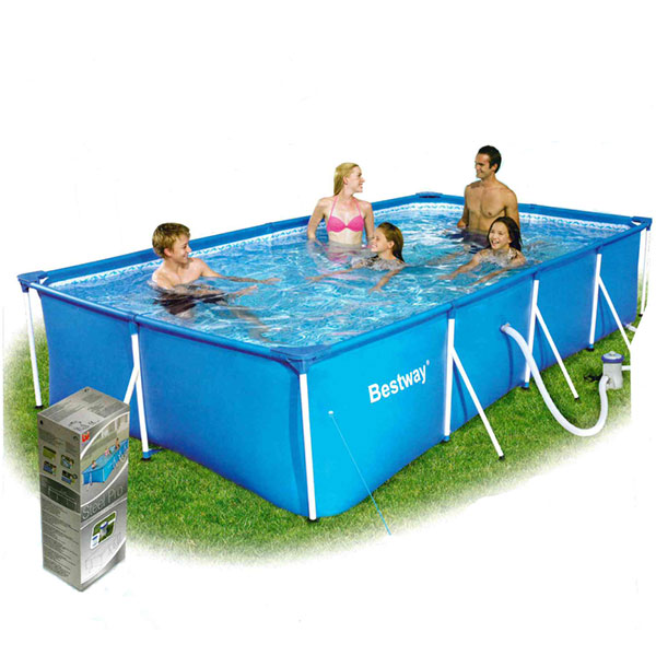 Easy pool 3 99 x 2 11 x 0 81mol frame pool set for Stahlwandpool rechteckig