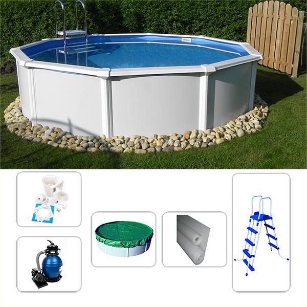 schwimmbecken poolset starzon rund 5 40 x 1 20m f r. Black Bedroom Furniture Sets. Home Design Ideas